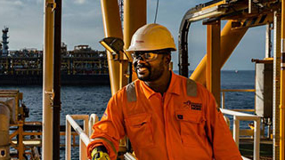 Operator on the TLP (Tension Leg Platform), Moho Nord project, Republic of the Congo