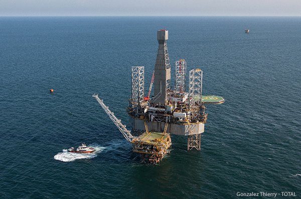 Offshore platform in Indonesia