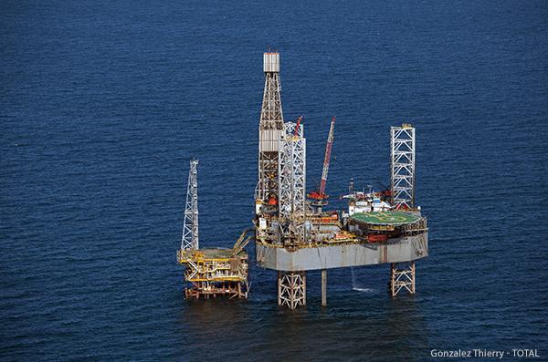 Plateforme offshore dans la Mahakam (Indonésie)