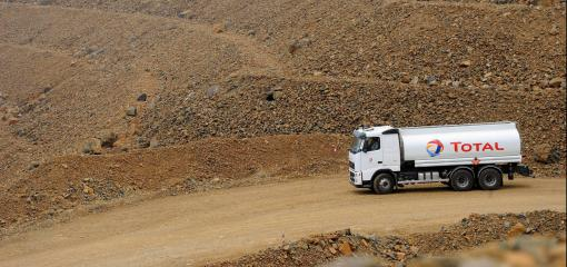 Total truck in the Kopeto mines in Népoui in New Caledonia