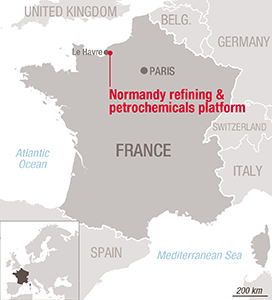 Normandy refining & petrochemicals platform, France