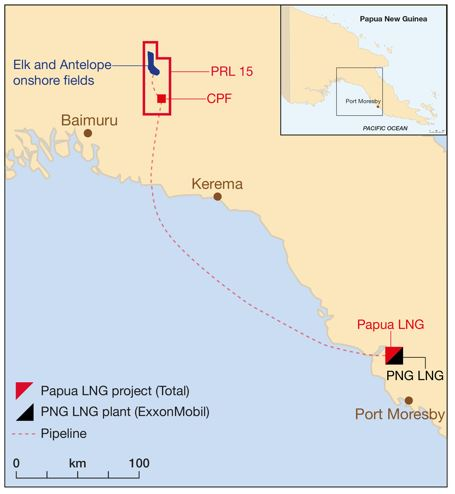 TOTAL OPERATED PAPUA LNG PROJECT