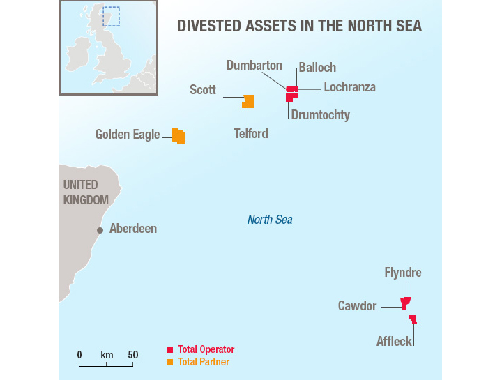 Divested assets in The North Sea